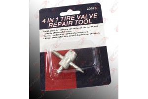 4 in 1 Tire Valve Repair Tool Car Auto Bike Bicycle Threader Repair