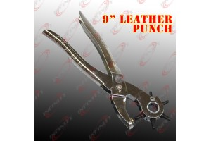 "New 9"" 6 Sized Heavy Duty Belt Watch Leather Hole Punch Hand Pliers Band Tool"