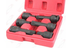 "6pc 1/2"" Sq Drive Impact Spline Socket Bit Set M18 M16 M14 for auto shop"