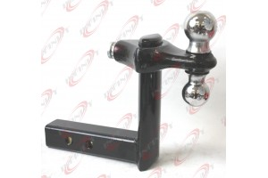 "6 Position Adjustable Trailer Raise Drop 2"" & 2-5/16"" Hitch Ball Mount Receiver"