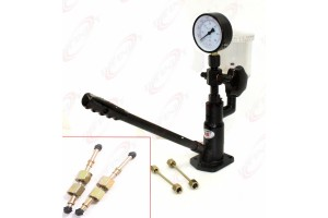 Diesel Injector Nozzle Pop Pressure Tester Dual Read Bar/PSI Gauge S60H W/Filter