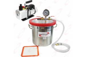 3 Gallon Vacuum Chamber and 2.5CFM Single Stage Pump to Degassing Silicone Kit