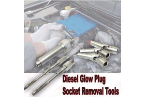 6Pc Diesel Glow Plug Socket Removal Tool Set 8 9 10mm socket& M10 M12 Reaming