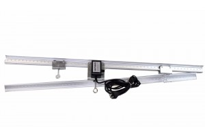 "83"" LIGHT TRACK RAIL 12W 10RPM Motor Grow Light Mover 4 Reflector Hood DE Gavita"