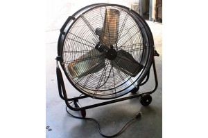 "24"" Industrial Drum / Barrel High Velocity Rolling Adjustable Fan Warehouse UL"