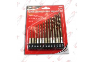 "Pro 13pc 1/4"" Hex Shank Quick change Cobalt Drill Bit Set Multi Bits"