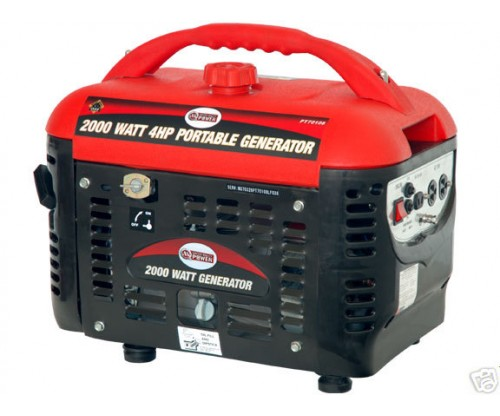 2000 Watt 4 HP OHV 4-Cycle Gas Powered Portable Generator
