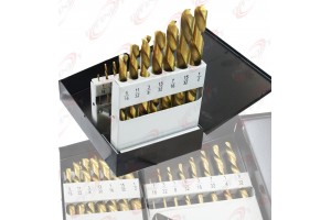 "NEIKO 1/16""-1/2"" Industrial 15pc Left Hand Drill Bit Set Tools 10037A"