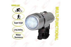 5 Super Bright White LED Multi-Functional Bicycle Head Light Long Lasting