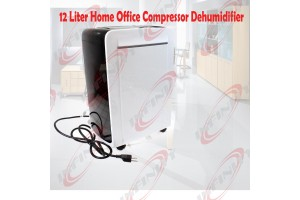 12L Home Office Compressor Dehumidifier AC R134a W/Auto Restart & Drain Hose