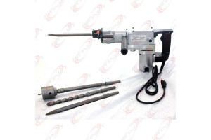 850W Electric Rotary Hammer Drill & Demolition Mode 500BMP w/ Core Bit Hole Saw