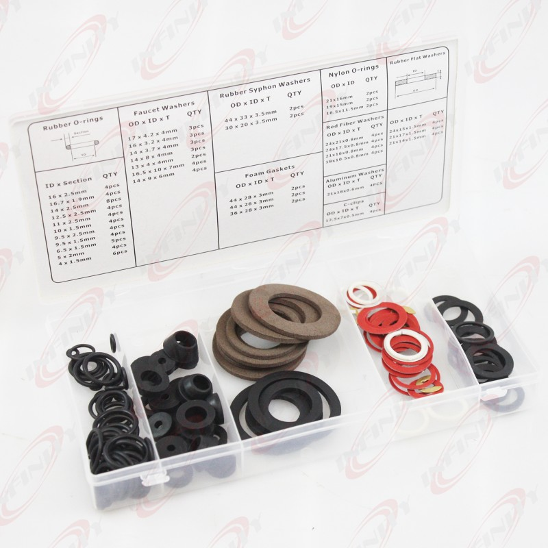 PC WASHER ASSORTMENT RUBBER O-RING HOSE GASKET FLAT AUTO GROMET SET KIT