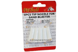 "4 Tip Nozzle For Sand Blaster Gun 9/64"" 1/8"" 7/64"" 3/32"" 5 pc Each Pack"
