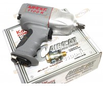 "AIRCAT 1100-K 1/2"" Twin Clutch Kevlar Composite Air Impact Wrench Gun Mini Oiler"