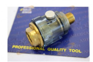 Mini IN-LINE OILER LUBRICATOR Oil for Air Tools Solid Brass Air Line Oiler 1/4""