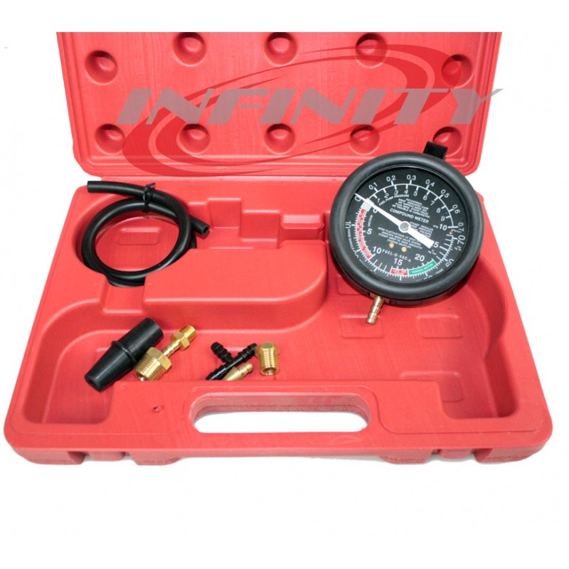 Fuel Pump /& Vacuum Tester Gauge Leak Carburetor Pressure Diagnostics US Stock