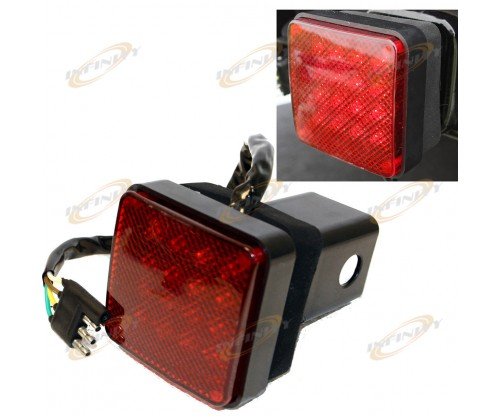 "16 LED Brake Light Trailer Hitch Cover Fit Towing & Hauling 2"" Receiver"