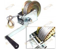 2000 lbs Hand Steel Cable Winch For Boat/Trailer New