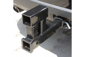 "DUAL HITCH 2"" RECEIVER EXTENSION TRAILER RV TOW 4000LBS"