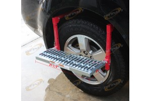 "21-1/2""X7"" Truck Tire Wheel Step Up Folding Ladder W/ Non Slip Step Platform"