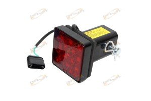 "12 Bright LEDs LED Brake Light Fit 2"" Trailer Hitch Receiver Tube Cover w/ Pin"
