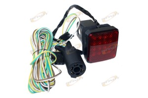 "16 LED TOWING HITCH COVER BRAKE LIGHT W/20FT WIRE & ADAPTOR KIT 4 2"" RECIEVER"