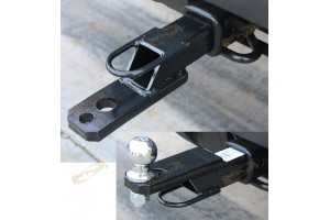 "3-Way Receiver Mount Hitch 5000lbs Fit 2"" Tow Receivers w/2""Ball"