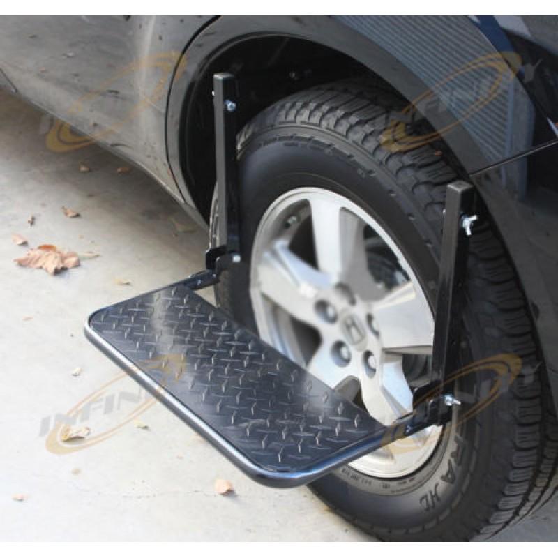 Truck Step Up >> Truck Suv Tire Wheel Step Up Folding Adjustable Ladder Non Slip Step