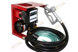 110V Electric Oil Fuel Diesel Gas Transfer Pump W/Meter 12' Hose Manual