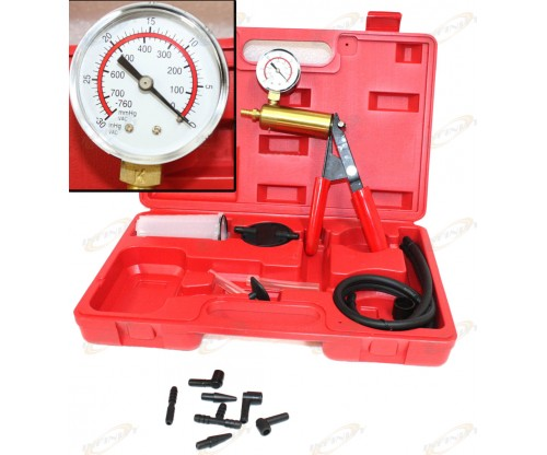 2 In 1 Brake Bleeder & Vacuum Pump Gauge Test Tuner Kit Tools DIY Hand Tools