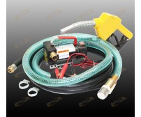 12V Diesel Kerosene Fuel Transfer Direct Pump Kit W/ Automatic Nozzle +12' Hose