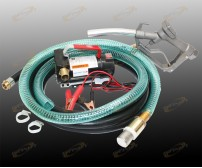 12V Diesel Kerosene Fuel Transfer Direct Current Pump Kit With Nozzle & 12' Hose