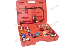 Auto Cooling System Radiator & Color Cap Pressure Tester Kit Pump Gauge Adapters