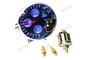 "5"" DIGITAL RACING 4 IN 1 TACHOMETER, WATER TEMP, VOLT METER,OIL PRESSURE GAUGE"