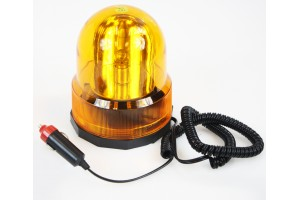 Revolving Amber Caution Yellow Light for Vehicles - 'No-Drill' Magnetic Base