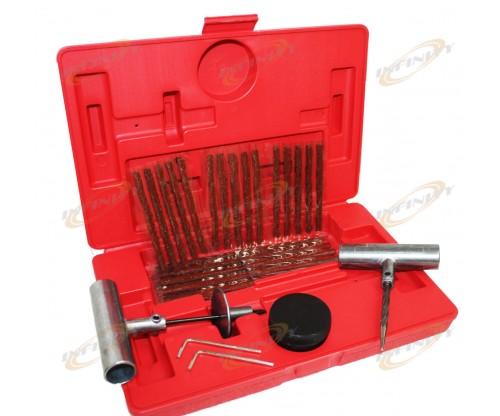 35 Pieces Tire Repair Tool Kit W/Case Plug Patch 35pc