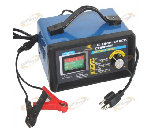 6AMP Quick Battery Charger 12V 6V @ 6AMP 2AMP 120V/60hz RV AUTO Boat ATV