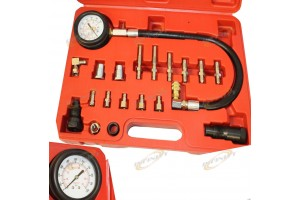 Diesel Engine Compression Cylinder Pressure Tester Gauge Kit 0-1000psi TU 15