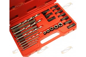 25pc Screw Extractor Drill & Guide Remove Broken Screws Bolts Fasteners Set