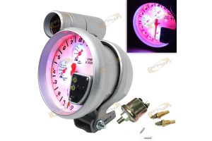 "4 IN 1 5"" TACHO TACHOMETER GAUGE RPM WATER OIL TEMPERATURE PRESSURE SHIFT LIGHT"
