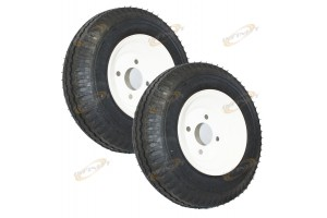 "One Pair 4.80/4.00/8 15"" TRAILER TIRE WHEELS 8-3/4"" RIM (UTILITY / CARGO)"