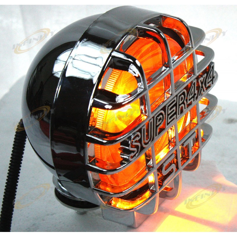 Lot 2 Chrome Housing 12v Amber Halogen Fog Head Lights