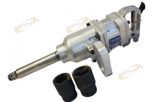 "1900 Ft-lbs 1"" Air Impact Wrench Gun Long Shank Commercial Truck w /2 Sockets"