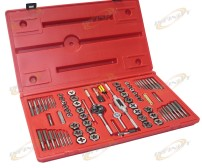 76Pc Tap and Die Set Hexagon Tool SAE Standard MM Metric High Alloy Steel w/Case