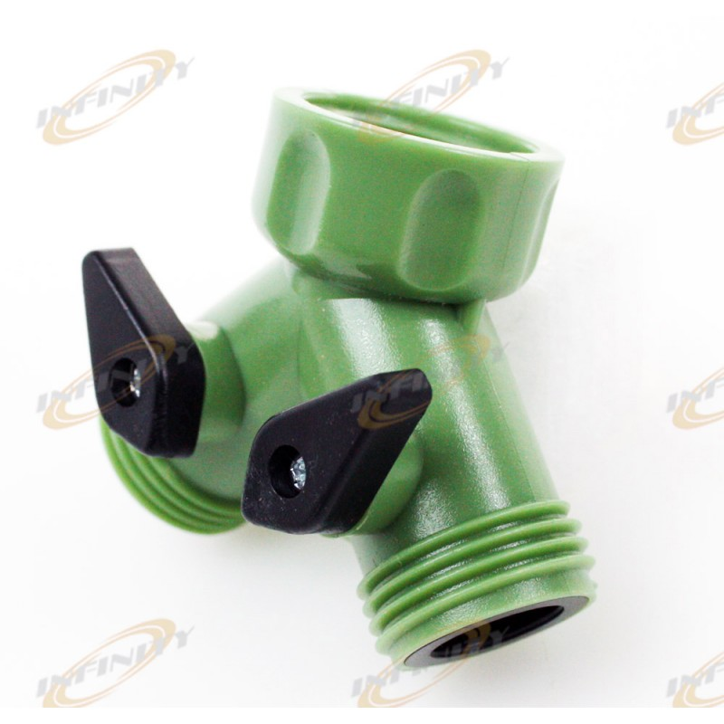 Way Garden Hose Connector Splitter Y Connector Water Valves SHUT