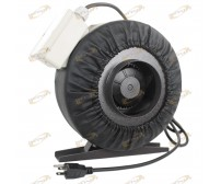 "4"" Inline 190CFM Hydroponics Duct Tube Exhaust Fan Blower 120V W/ Leather Sleeve"