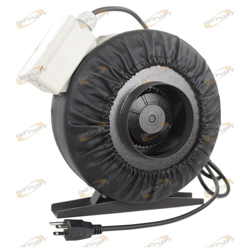 4 inline 190cfm hydroponics duct tube exhaust fan blower for 4 bathroom fan duct