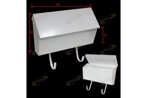 "15""x9""x6"" Wall Mount White Mail Box"