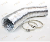 "4"" x 33' Flexible Ducting Hose +2 Clamp Inline Fan Blower Filter Exhaust Duct"