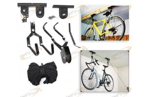 Ceiling Bicycle Garage Hoist Storage Mount Lift Garage Hanger Pulley Rack